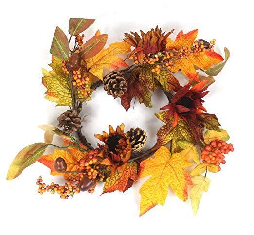 Amazon De Decoline Herbst Kranz O 30cm X 11cm Herbstdeko