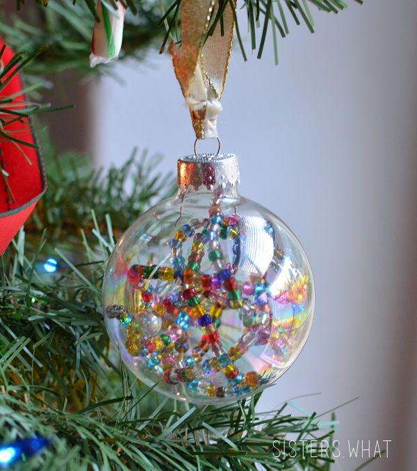 Diy Light Box Beaded Christmas Ornaments Ornament Tutorial Diy