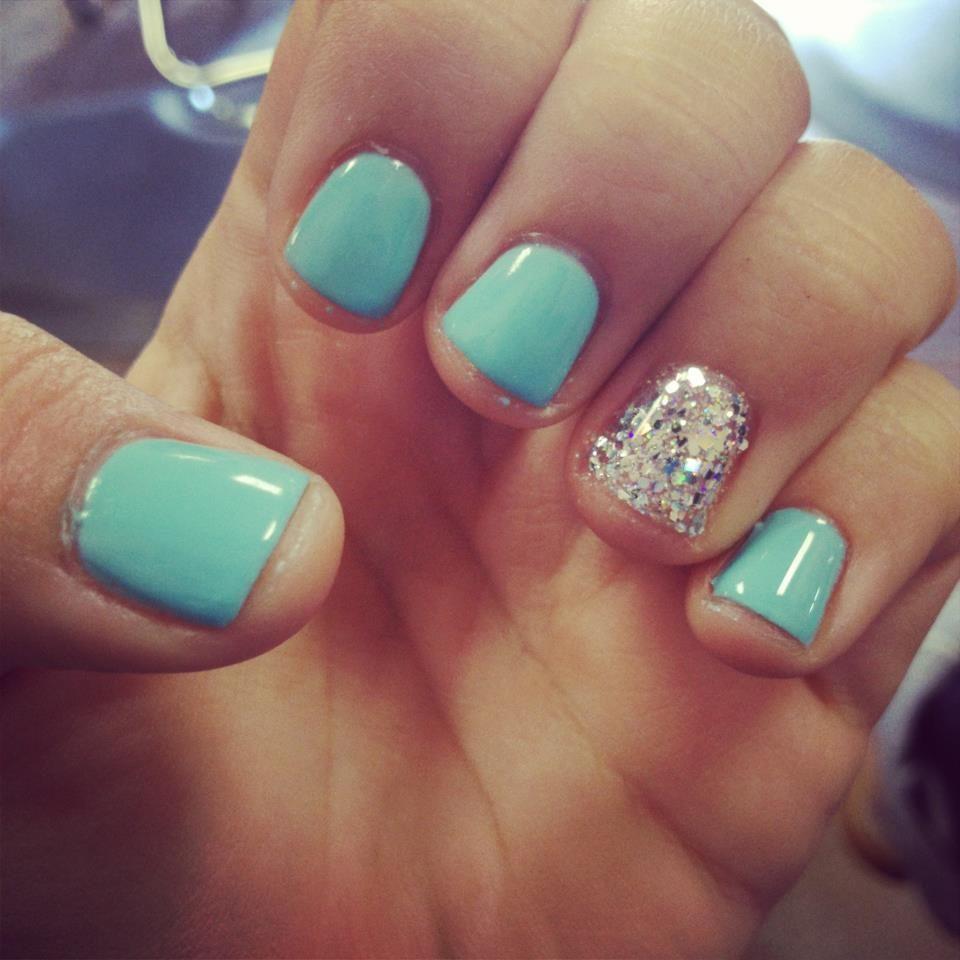 Tiffany Blue Nail Art: Tiffany Blue #nails