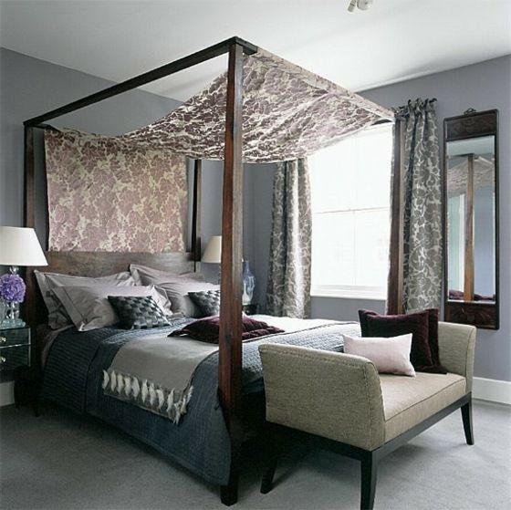 Lit à baldaquin et à colonnes chambre à coucher en 27 photos! - couleur tendance chambre a coucher