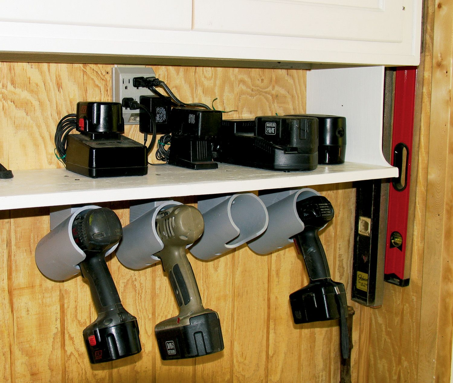 how to build a drill organizer read more at shop ideas garage tool. Black Bedroom Furniture Sets. Home Design Ideas