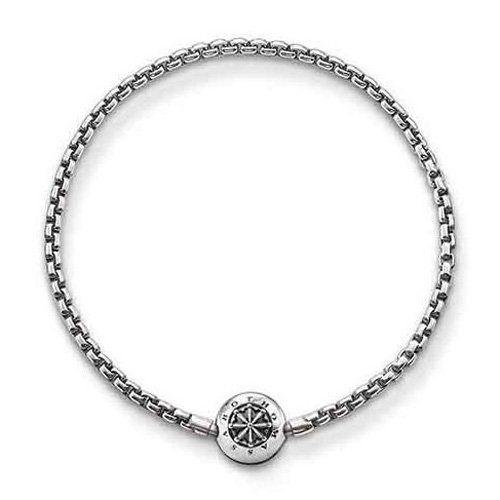 Thomas Sabo Women's 925 Sterling Silver Charm Club Rose Quartz Necklace of Length 60 cm MTdjse2BgN