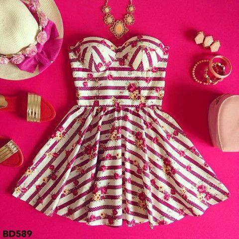 Pattern Bustier Dress – Sassitude