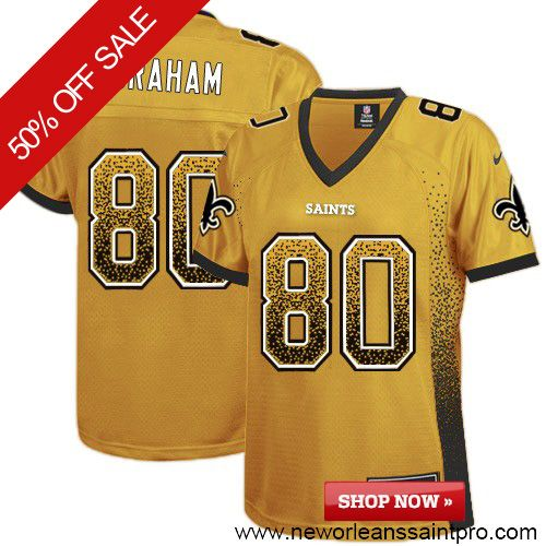 ceb694209  109.99 Women s Nike New Orleans Saints  80 Jimmy Graham Elite Gold Drift  Fashion NFL Jersey