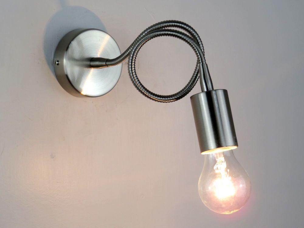 Lampada da parete applique moderno braccio flessibile bagno salone