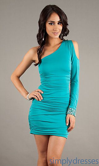 81377698cce Short One Sleeve Casual Dress at SimplyDresses.com