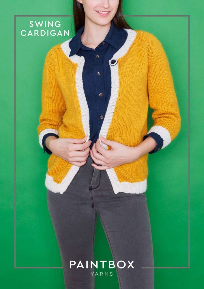 Swing Cardigan in Paintbox Yarns Simply Aran - Downloadable PDF ...