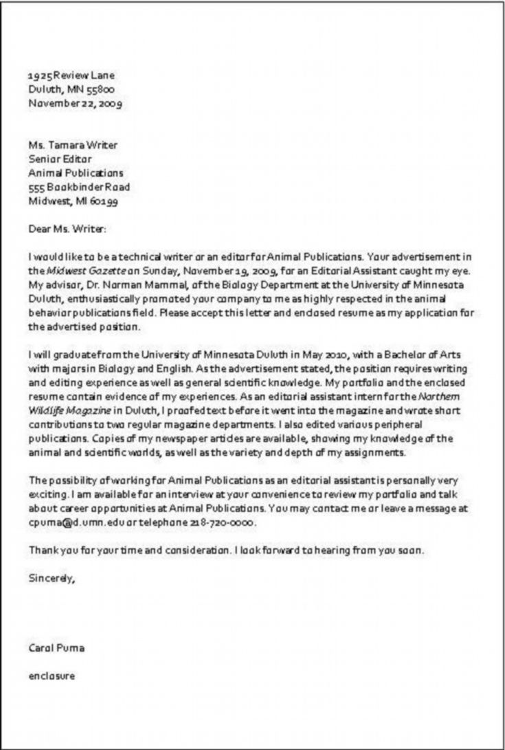 Writing Letter Of Application  Application Letter