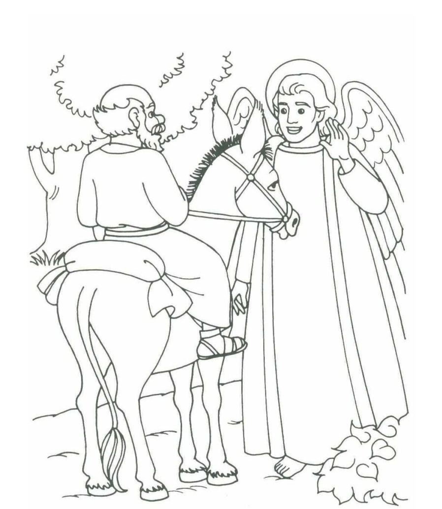 25++ Balaam and the donkey coloring page download HD