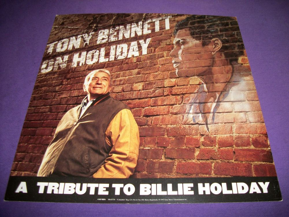 Tony Bennett / On Holiday / 1997 Columbia Records Double-Sided Promo Poster #BillieHoliday #TonyBennett #Poster