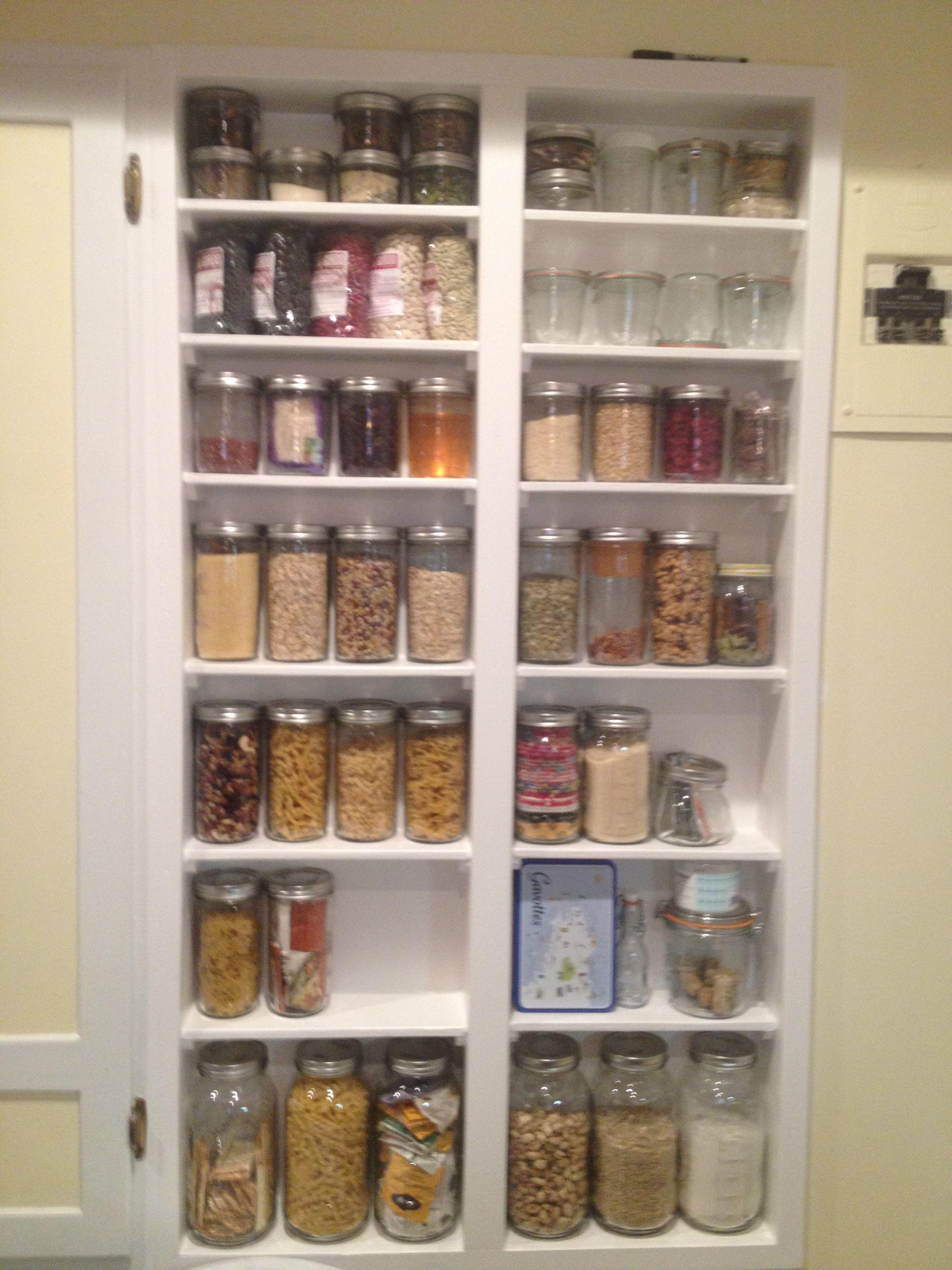 New kitchen shelf for Mason jar storage  Organization