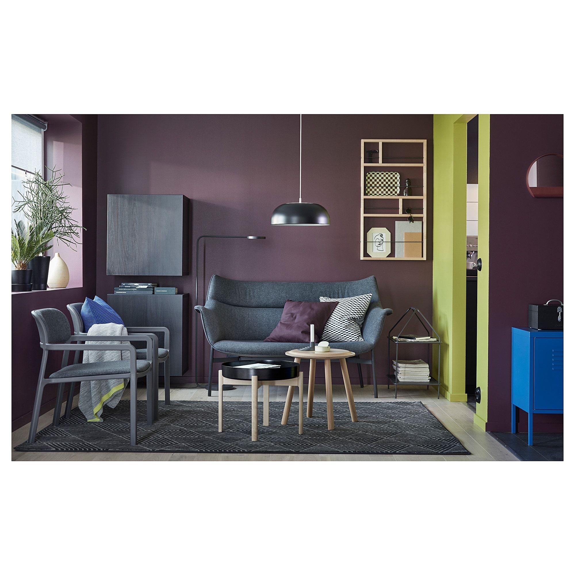 IKEA YPPERLIG Dark Gray, Birch Coffee table Ikea, Ikea