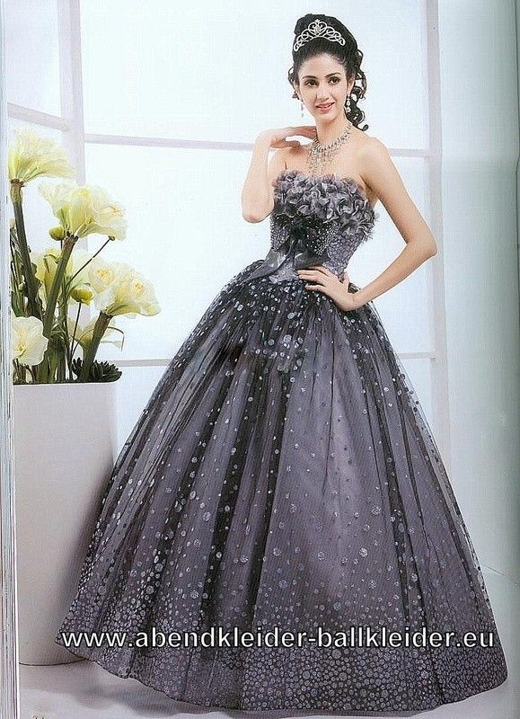 Abendkleid Ballkleid Wicky in Silber Grau | Dresses | Pinterest ...