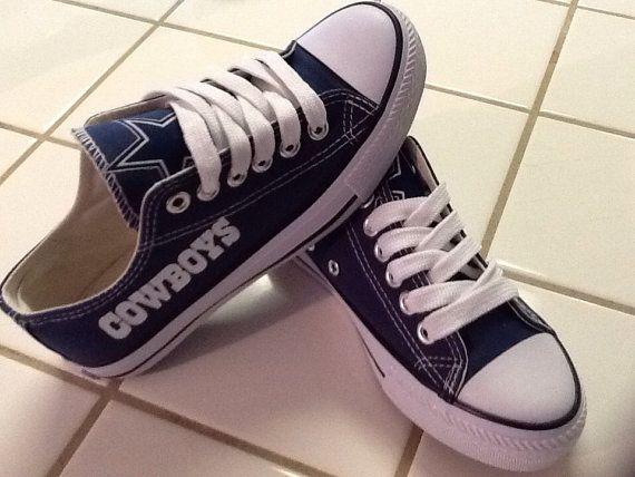 21ee7b4a47b156 Dallas Cowboys men s tennis shoe s by Sportzfanatics on Etsy