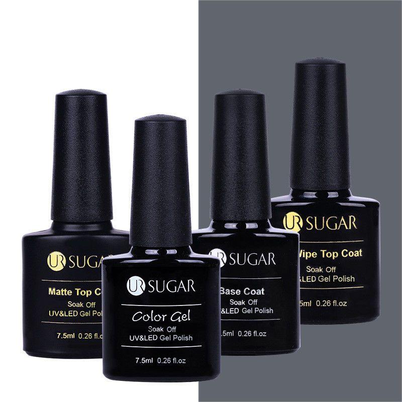 7 5ml Ur Sugar Nail Art Uv Gel Polish No Wipe Top Coat Base Coat Soak Off Gel Gel Nails Gel Polish Gel Polish Brands