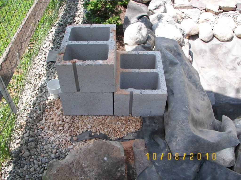 Diy waterfall building squidheads build pond ideas for Garden pond building instructions