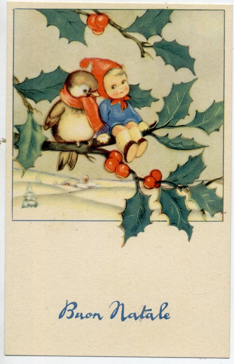 C1930 Card From Italy Ebay Christmas Pinterest Vintage