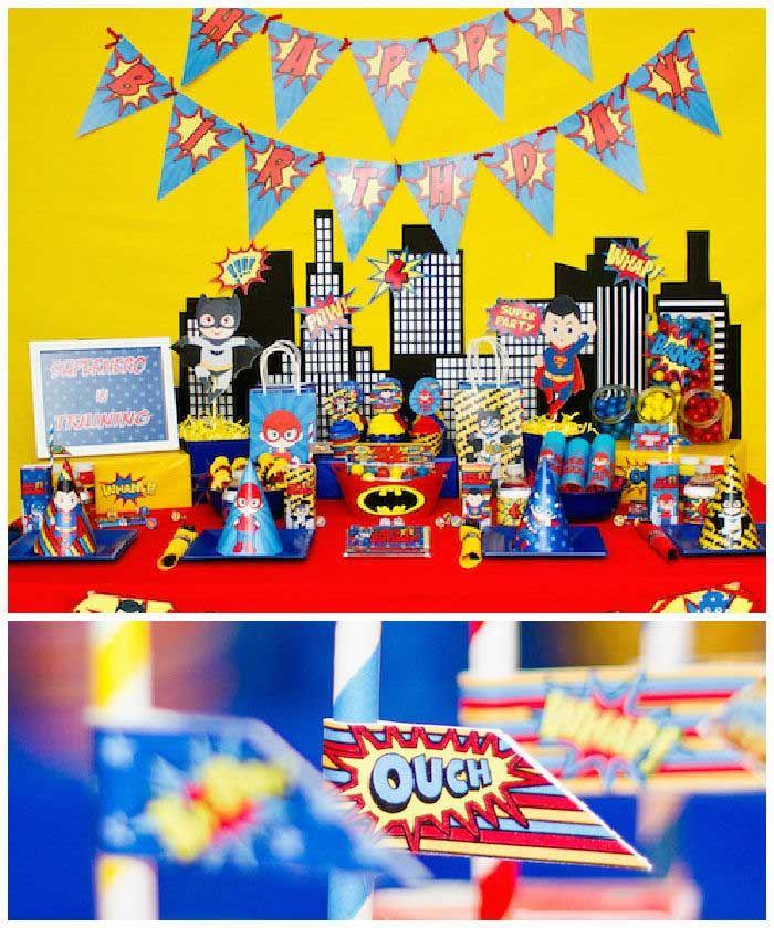 Superhero Themed Birthday Party Via Karas Ideas KarasPartyIdeas Superheroparty