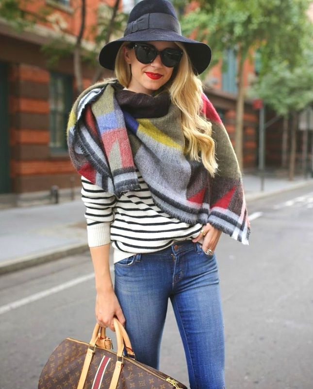 96d6187c2 15 Chic Ways to Wear a Scarf this Fall | #AtlanticPacific looking ...