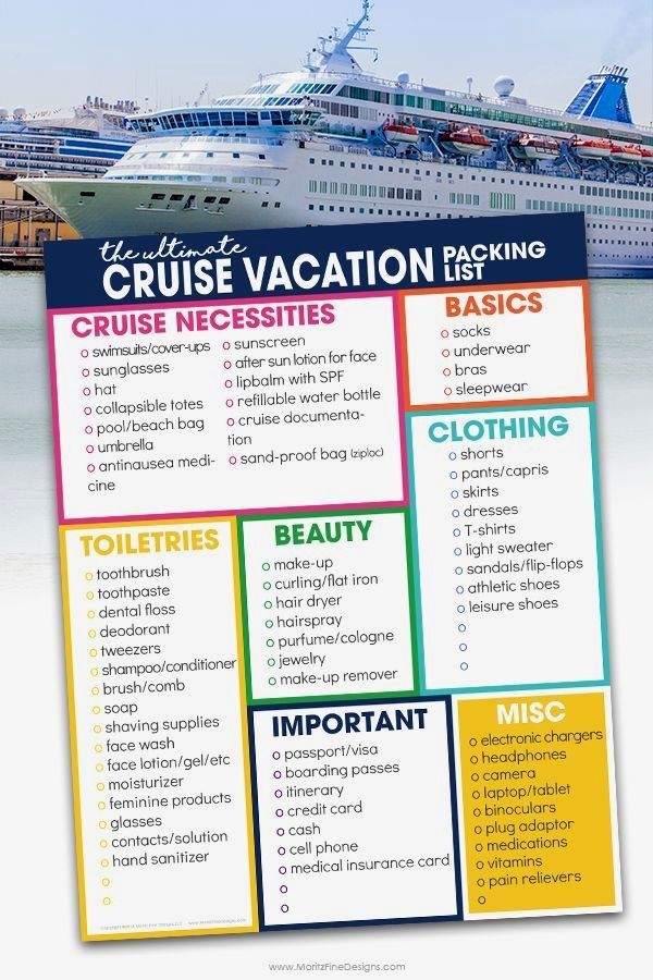 Cruise Vacation Packing List | Free Printable Download