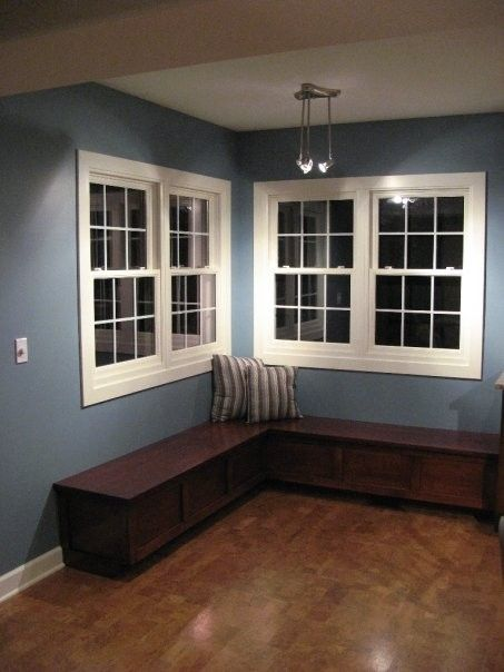 Kitchen nook with bench crafted by T & E Construction, Inc.