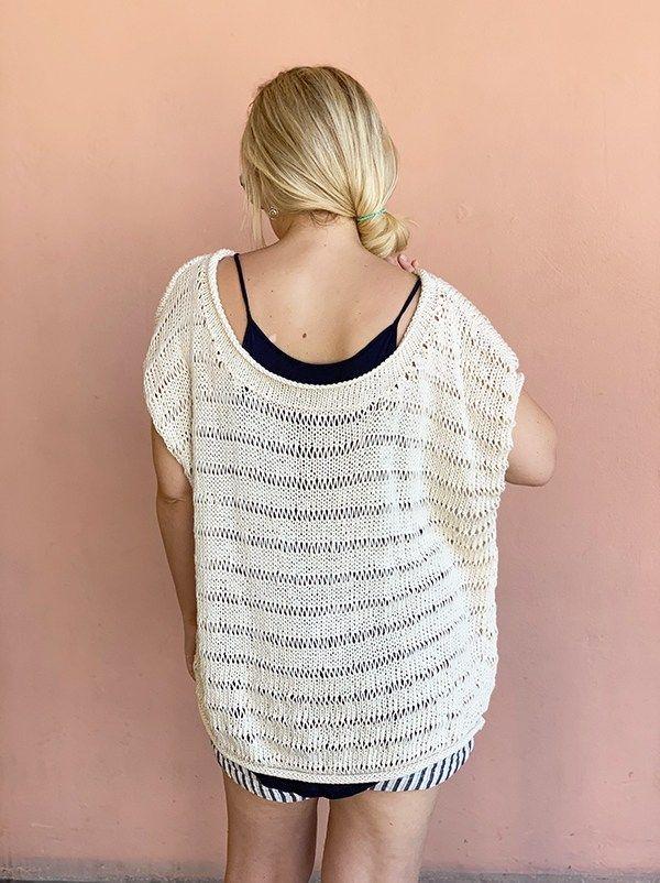 Drop Stitch Knit Top Pattern | Free Knitting Patterns ...