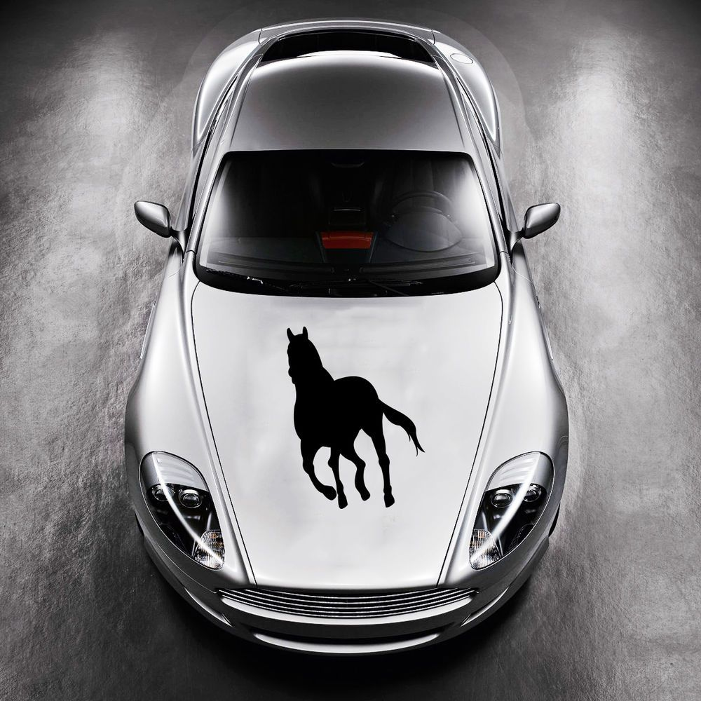 RUNNING HORSE MUSTANG ANIMAL CUTE DESIGN HOOD CAR VINYL STICKER - Best automobile graphics and patternsbest stickers on the car hood images on pinterest cars hoods