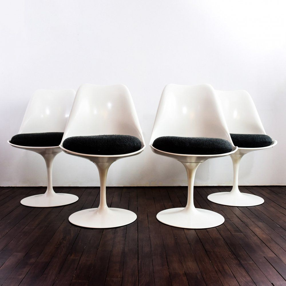 For sale set of 4 tulip chairs non swivel version by