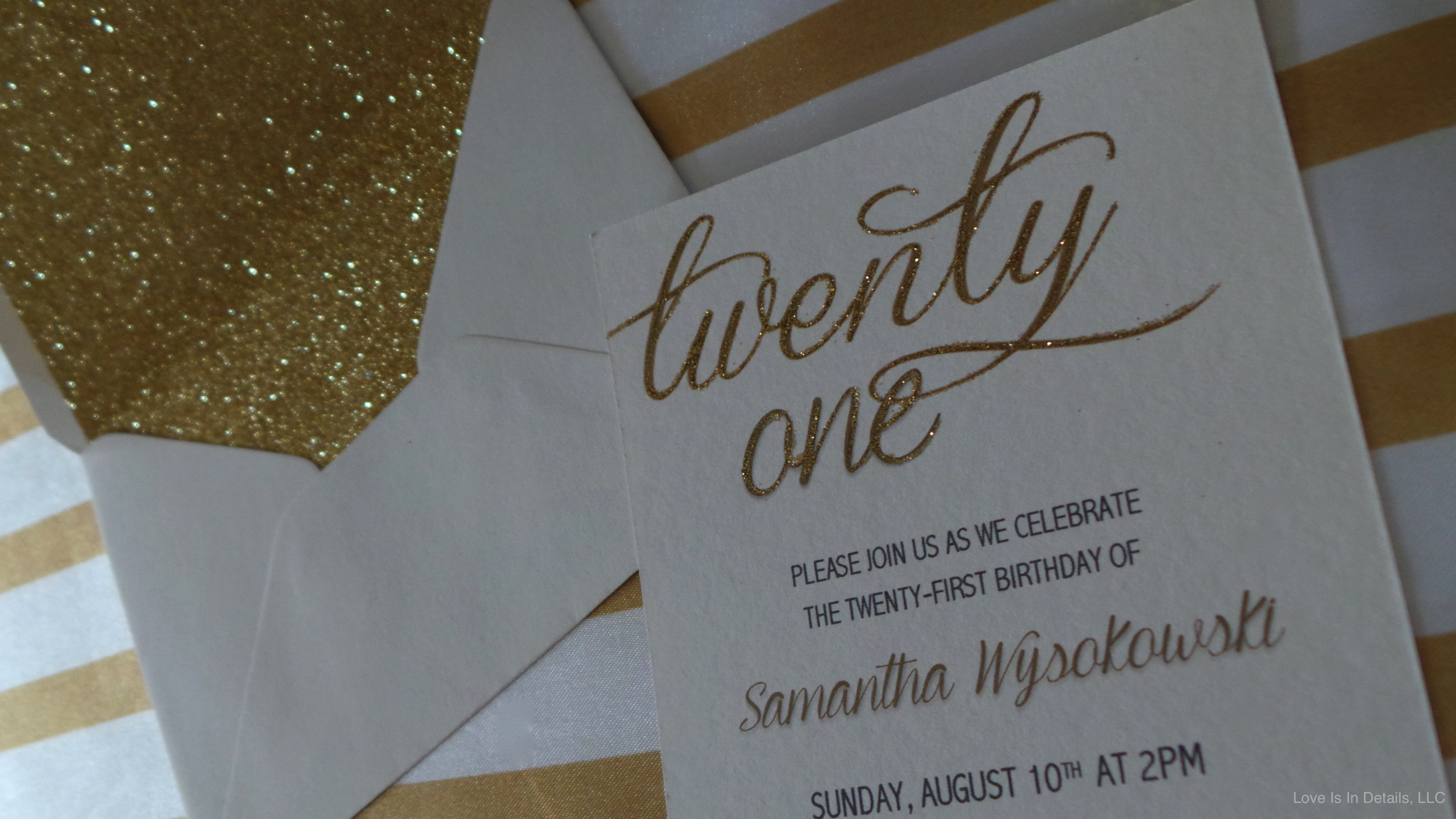 21st Birthday Invitations by Love Is In Details WWW.LOVEISINDETAILS ...
