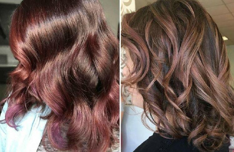 Neue Frisuren 2017 Chocolate Mauve Farbe Als Haartrend Fur Ein