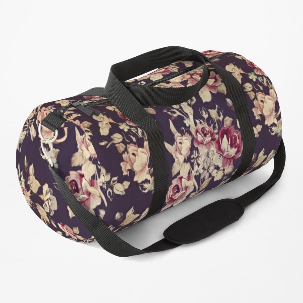 Vintage Roses Floral Decorative Patterns Duffle Bag By Rainbowcanvas Bags Duffle Duffle Bag