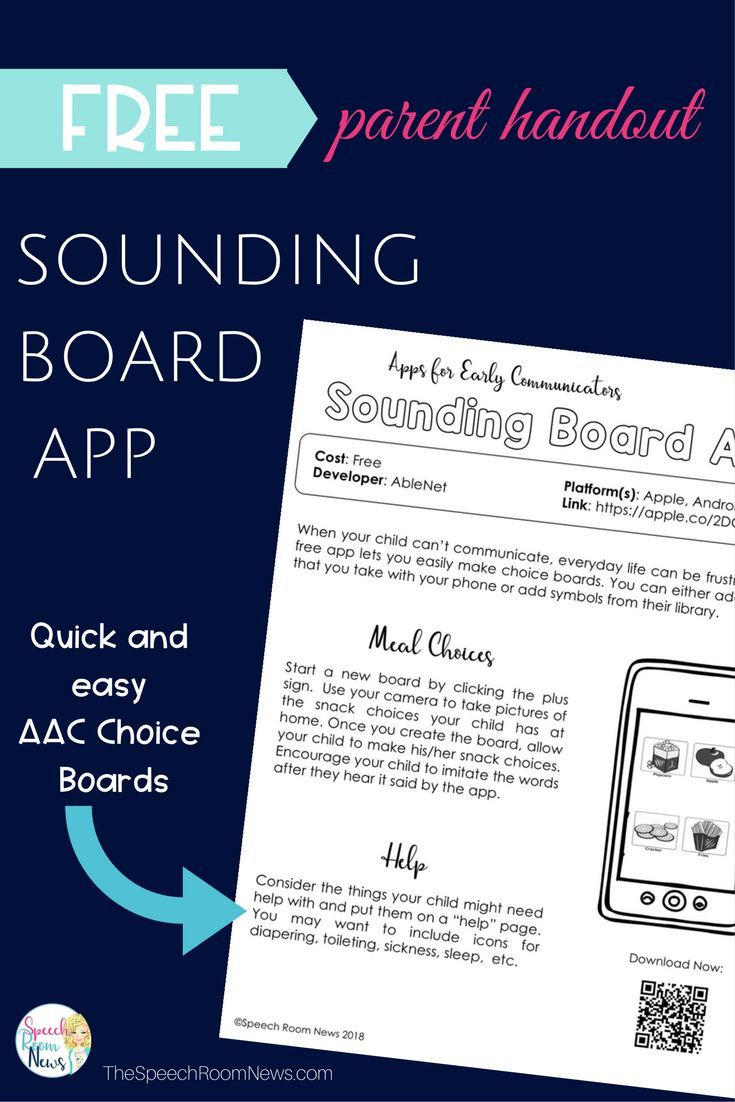 Sounding Board AAC App Parent Handout (With images