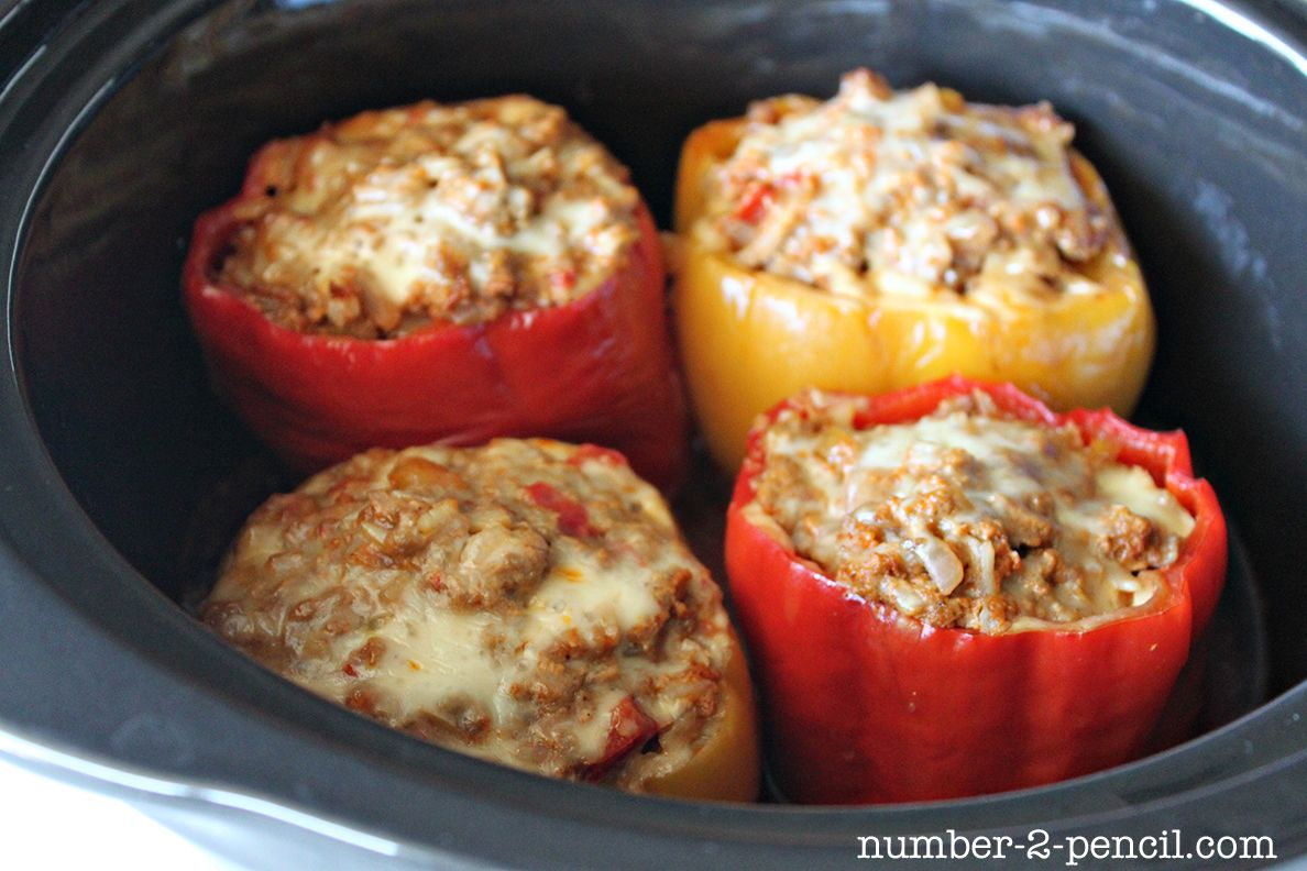 Crockpot Stuffed Peppers Stuffed Peppers Mexican Food Recipes Recipes