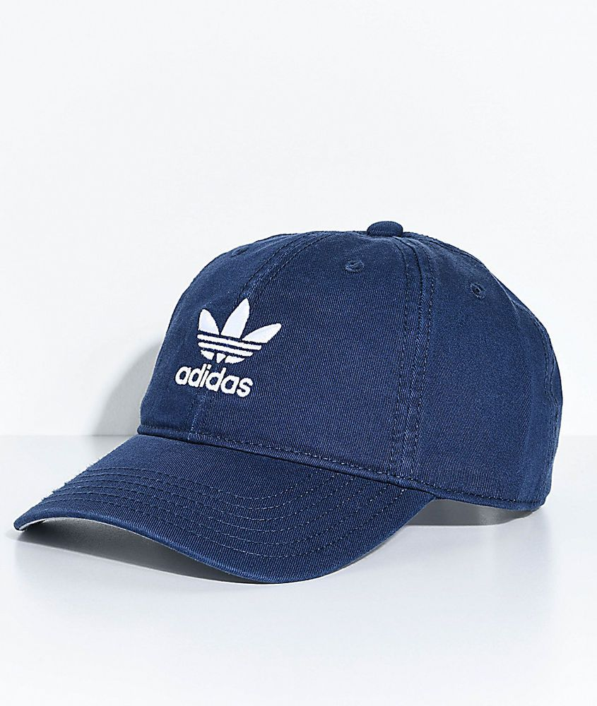 Adidas Originals Women s Relaxed Strapback Cap Hat Navy White Nwt  adidas 84ce53ae4d08