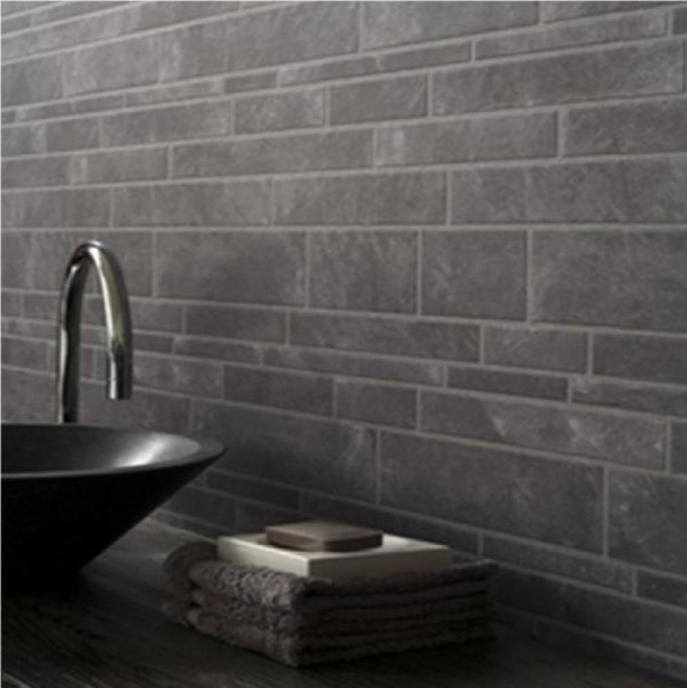 Gray Tile Wallpaper Home Furniture Diy Diy Materials Wallpaper Wall Coverings Brick Effect Wallpaper Wallpaper Accent Wall Bathroom Slate Wallpaper