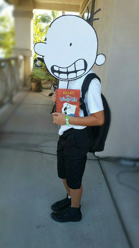 creative costume for school diary of a wimpy kid