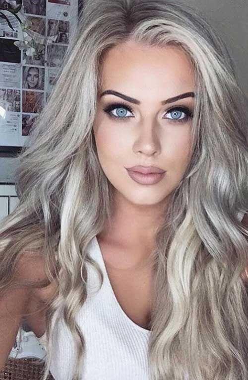 platin blonde lange haare farbe haare pinterest blonde lange