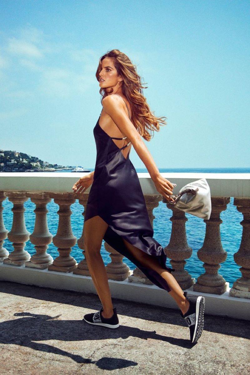 01a1177a390a Izabel Goulart Models Jimmy Choo s Luxe Shoe Styles