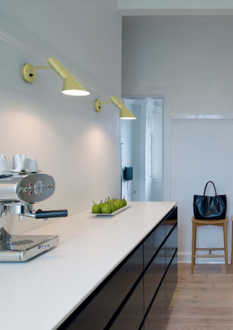 Kitchen Task Lighting Cabinet Finishes Aj Lamps For Louis Poulsen By Arne Jacobsen Used Here