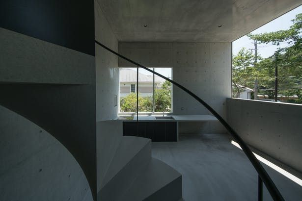 Best House In Ashiya Architect House Spiral Staircase 640 x 480