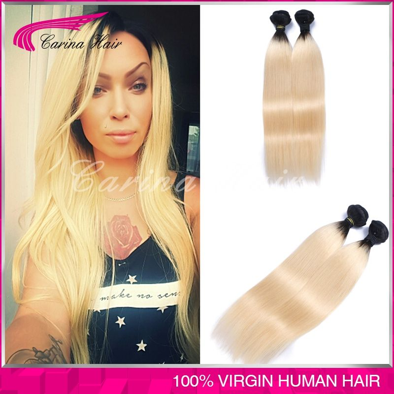 Virgin Straight Hair 1b 613 Blonde Brazilian Straight Hair Weave 7a