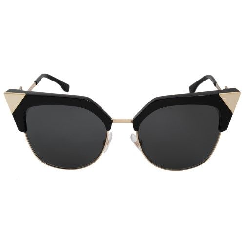4f6c73c8 Sunglasses Fendi Ff 149 /S 0REW Black Gold / P9 gray lens, Women's ...