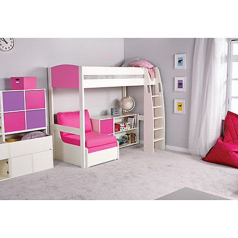 Strange Stompa Uno S Plus Single Chair Bed White Pink Lit Futon Theyellowbook Wood Chair Design Ideas Theyellowbookinfo