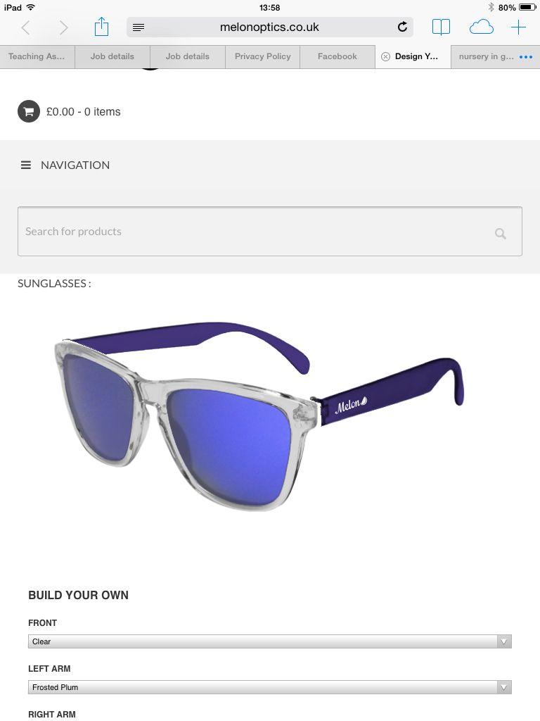 Sunnies Facebook design, Sunglasses