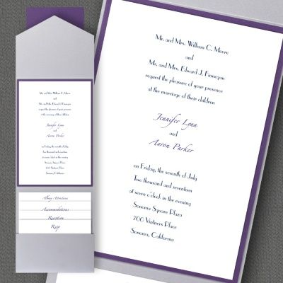 Thermo Timeless Elegance Layered Pocket Invitation Carlson Craft