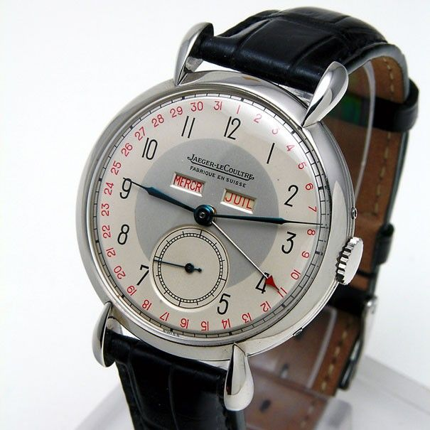 Vintage Jaeger- LeCoultre with Day/Month complications and date on outer edge of face.