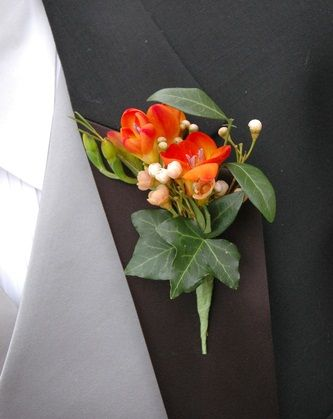 orange and blue flowers for boutonnieres | Boutonniere Flowers - Wedding Boutonnieres