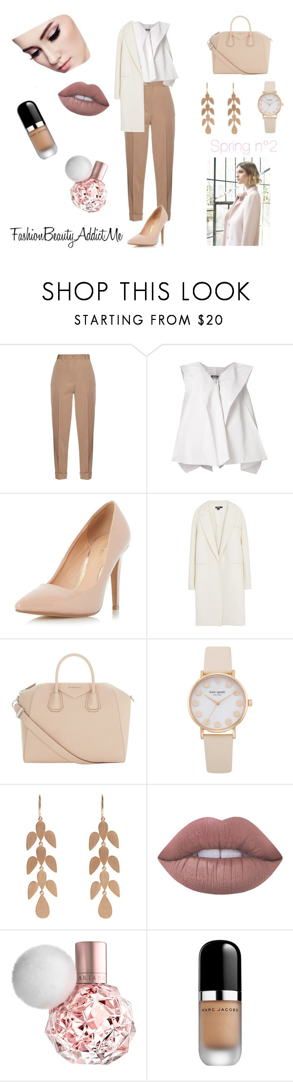 """""""Spring n°2"""" by chachalapin on Polyvore featuring mode, Bottega Veneta, Issey Miyake, Dorothy Perkins, DKNY, Givenchy, Irene Neuwirth, Nuevo, Lime Crime et Marc Jacobs"""