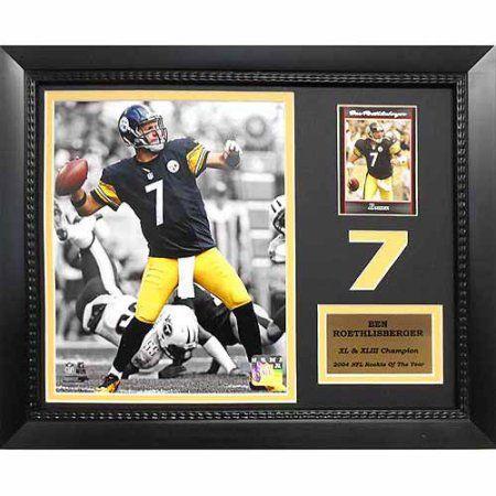 NFL Ben Roethlisberger Pittsburgh Steelers 11 inch x 14 inch Card Frame, Gray