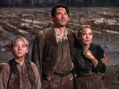 Claude Jarman, Jr., Gregory Peck, and Jane Wyman starred in The ...